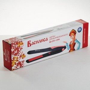 Щипцы для выпрямления волос ВАСИЛИСА ВА-3701 черный с коралловым