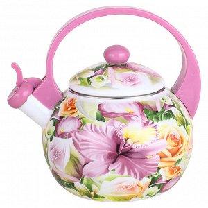 """Чайник 2,5 л со свистком ЕМ-25101/8 """"Орхидея"""""""