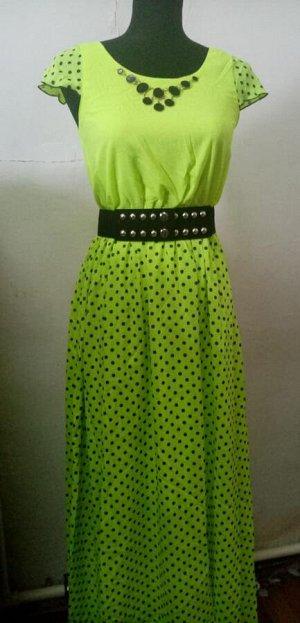 Платье Шифон, в комплекте ремень.