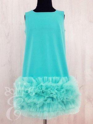 Платье Трапеция с рюшами 91026Пт