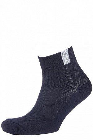 Носки Модель: укороченная. Цвет: чёрный. Комплектация: носки - 1 пара. Состав: хлопок-85%, полиамид-10%, эластан-5%.