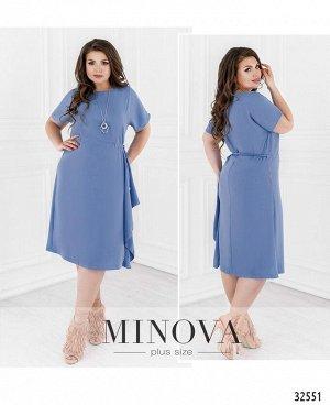Платье №19-18-голубой