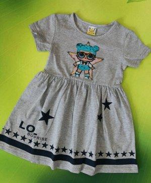 Платье для девочки. Цвет серый