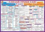 Плакат 8 класс русский язык, алгебра и геометрия