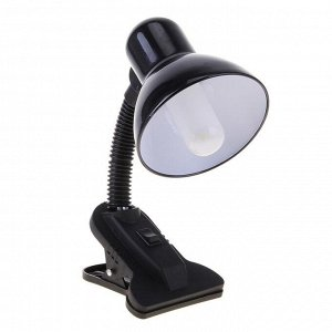 Лампа настольная Е27. с выкл. на зажиме (220В) черная (108В)