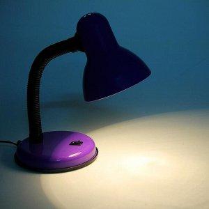 Лампа настольная Е27. с выкл. (220В) фиолетовая (203В)