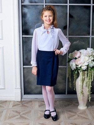 """Школьная юбка """"Софья"""",синий 128"""