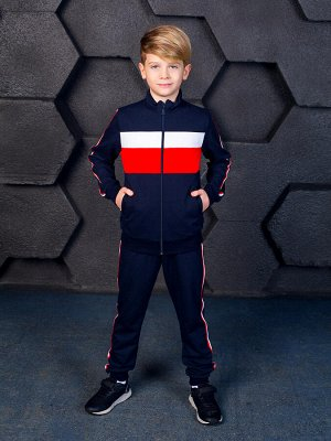 """Спортивный костюм """"Рекорд"""",темно-синий 122"""