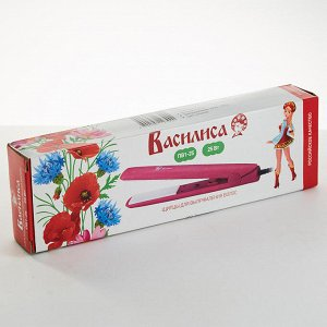 Щипцы для выпрямления волос ВАСИЛИСА ПВ1-25 розовый