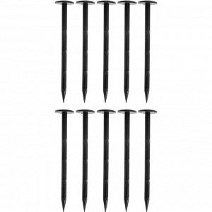 Набор колышков для фиксации садовых мембран и геотекстиля, h = 10 см, пластик, набор 10 шт.