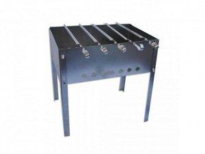 Набор мангал + 5 шампуров (уголок 270*10*0,5), нерж. сталь 0,5 мм, в коробке, М-3, 1/1