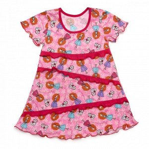 80-9 КТ Платье с рюшей из кулирного полотна