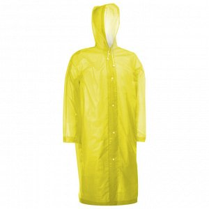 Дождевик-плащ взрослый размер 46-48, цвет желтый