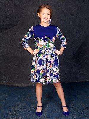 """Платье """"Барбара """",темно-синий"""