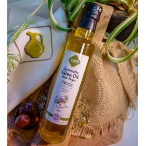 Оливковое масло EVROS с чесноком, Греция, ст.бут., 250мл