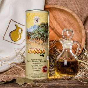Оливковое масло фермерское Olivi, жест.банка, Греция, 500мл