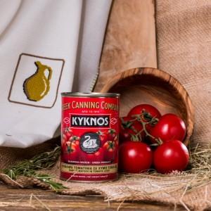 Помидорчики черри в томатном соке Kyknos, Греция, жест.банка, 400г