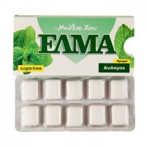 Жевательная резинка ELMA (МЯТА) без сахара, 1 блистер