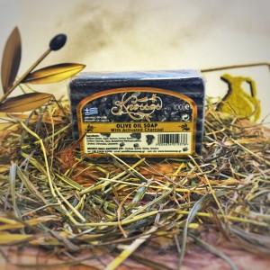 Мыло оливковое с активированным углем Knossos, 100г