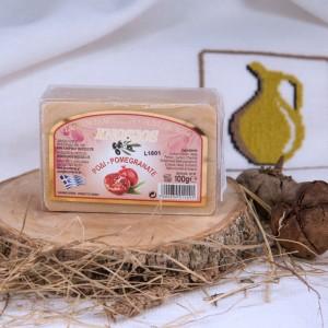 Натуральное оливковое мыло ГРАНАТОВОЕ Knossos, 100г