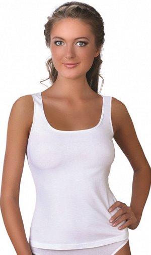 Майка Майка женская с широким плечом. Идеальный выбор под жакеты, блузы, джемпера Состав: 95% Хлопок/ 5% Эластан