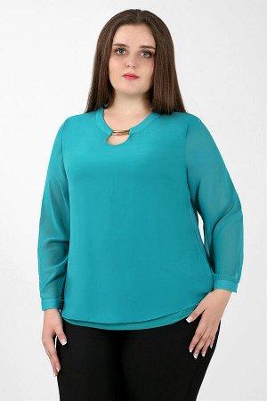Зеленый Примечание: замеры длин соответствуют размеру 52. Длина блузы: 65 см. Длина рукава: 58 см. Подкладка: нет. Застёжка: пуговицы сзади. Декор: металлическое украшение. Состав: хлопок 65%, спандек