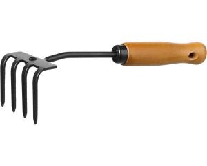 """Грабли 4-хзубые """"PROLine"""" с деревянной ручкой"""