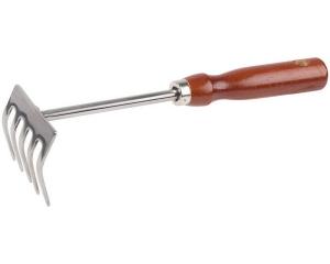 Грабельки GRINDA из нержавеющей стали с деревянной ручкой