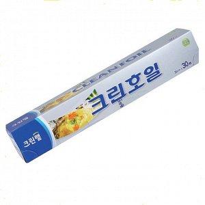 Алюминиевая фольга (с отрывным краем-зубцами) 30 см*30 м 1 шт