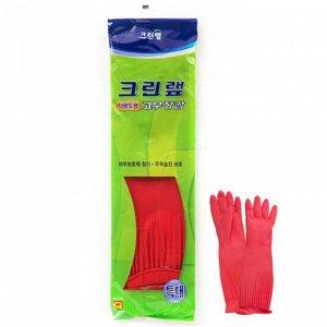 Уплотненные перчатки из натурального латекса (опудренные) красные размер ХL, 1 пара