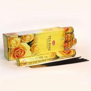 Благовония HEM TEA ROSE чайная роза уп 6 шт