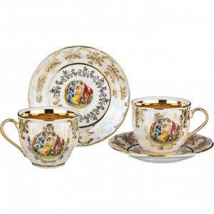 "Чайный набор на 2 персоны 4 пр.""мадонна"" 250 мл. (кор=24набор.)"