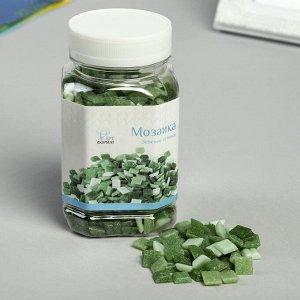 Мозаика в банке 10*10мм, зеленые оттенки 500г