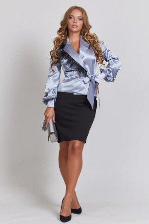 0144 БЛУЗА Длина блузы измеряется по спинке от основания шеи до линии низа изделия. Для размеров 42, 44, 46 длина блузы - 57 см, для размера 48 – 58 см, для размера 50 – 59 см, для размера 52 - 60 см.