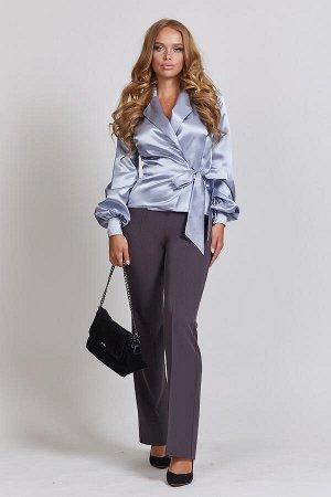 0141 БЛУЗА Длина блузы измеряется по спинке от основания шеи до линии низа изделия. Для размеров 42, 44, 46 длина блузы - 57 см, для размера 48 – 58 см, для размера 50 – 59 см, для размера 52 - 60 см.