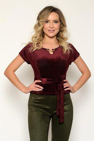 0383 БЛУЗА Длина блузы измеряется по спинке от основания шеи до линии низа. Для размера 42 длина блузы составляет 50 см, для размера 44 - 51 см, для размера 46 - 52 см, для размера 48 - 53 см, для раз