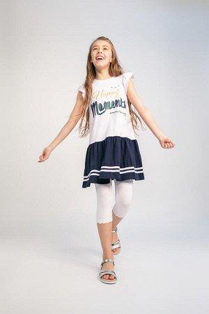 Платье трикотажное для девочек 140