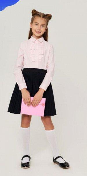 Блузка школьна розовая полоска