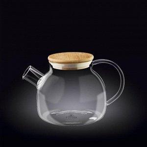 WILMAX Thermo Glass Заварочный чайник с деревянной крышкой 950мл WL-888810/A
