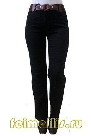Прямые черные джинсы MS7382 рр 11(46)