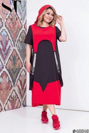Платье двойка 48549 (платье+накидка)