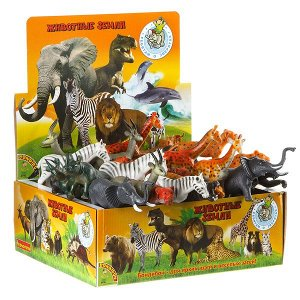 "Набор животных BONDIBON ""Ребятам о Зверятах"", животные джунглей,12 видов, 5'', D/B 42 шт."