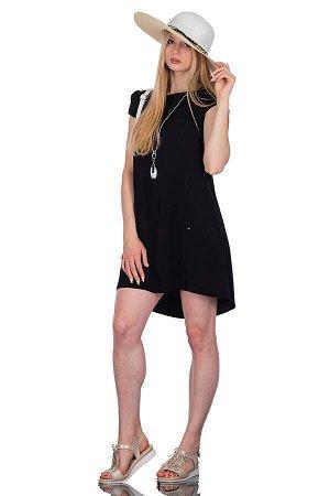 Платье Цвет чёрный. Комплектация платье. Состав полиэстер - 62%, вискоза - 34%, эластан - 4%. Бренд