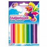 Пластилин плавающий флуоресцентный 6 цветов