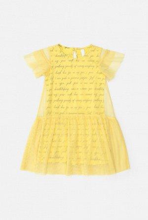 Платье детское для девочек Blur желтый