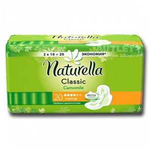 NATURELLA Classic Женские гигиенические прокладки ароматизир с крылышками Camomile Normal Duo, 18 шт