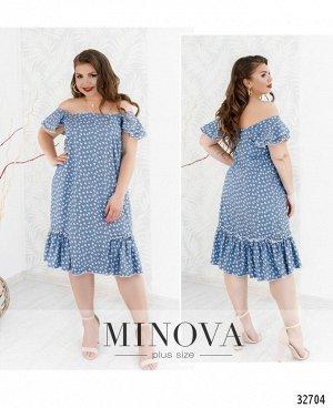 Платье №19-22-голубой
