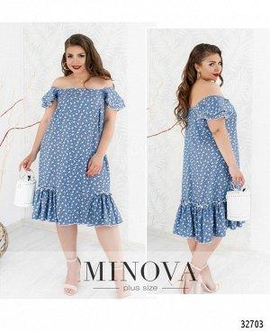 Платье №19-22-1-голубой
