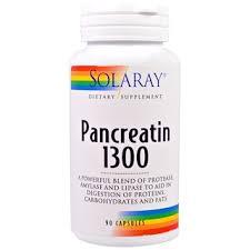 Solaray, Панкреатин 1300, 90 кап