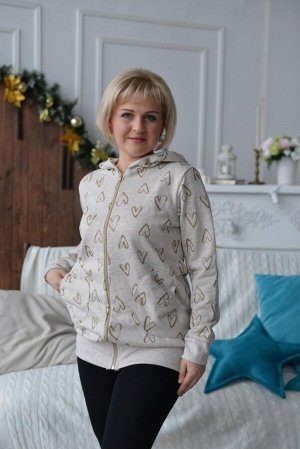 Куртка женская ПЭ50% Хб50% футер петля